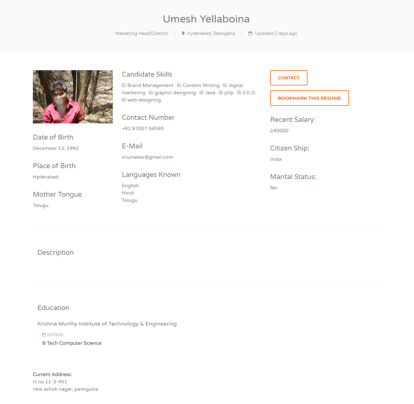 5 how to access the resume database view candidates and contact